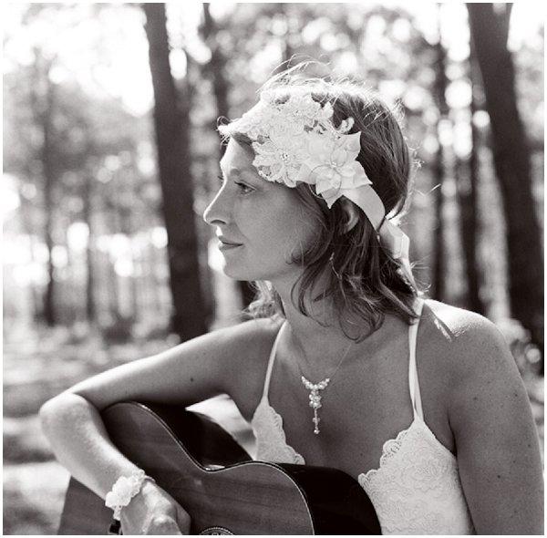 french boho bride headdress