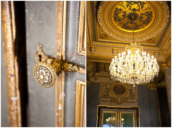 inside wedding chateau