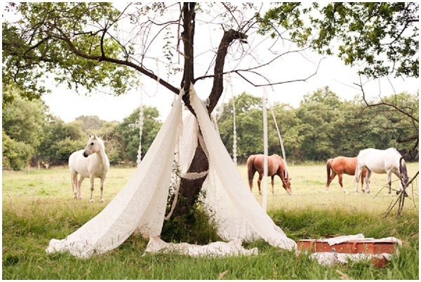 lace wedding tent