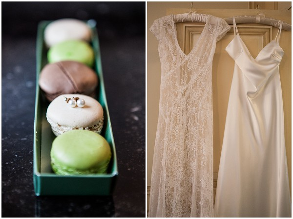 macarons wedding dress