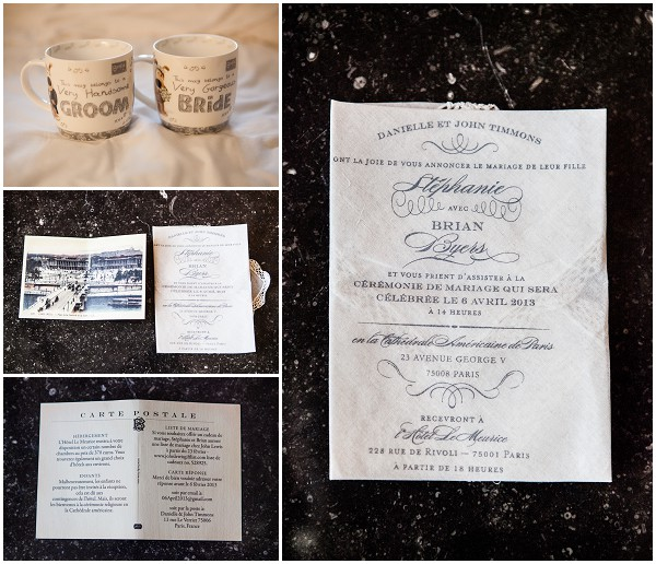 napkin wedding invites