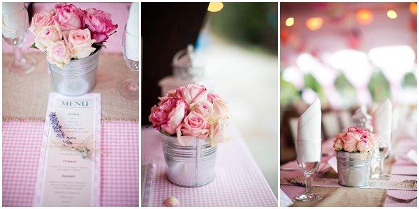 pink wedding table design