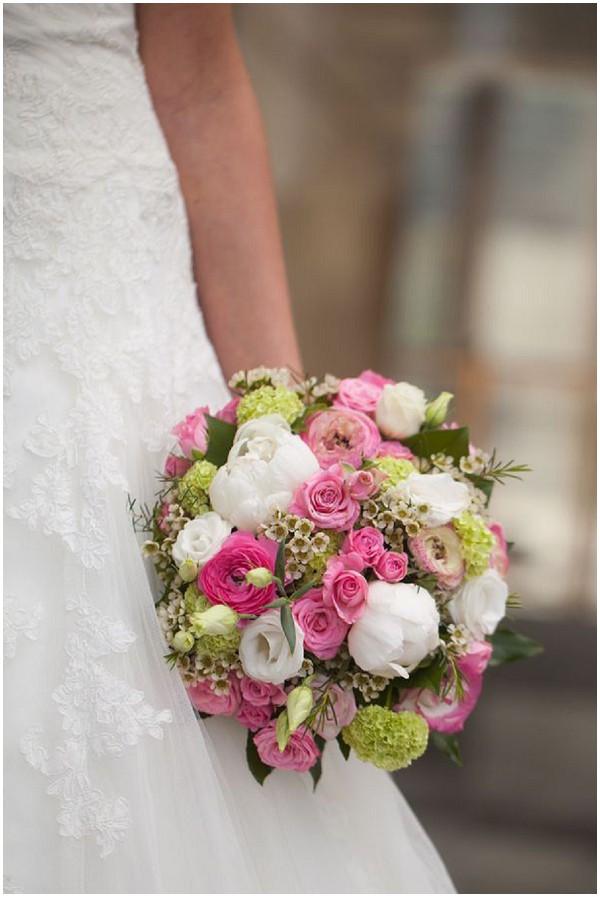 pink white Bride bouquet