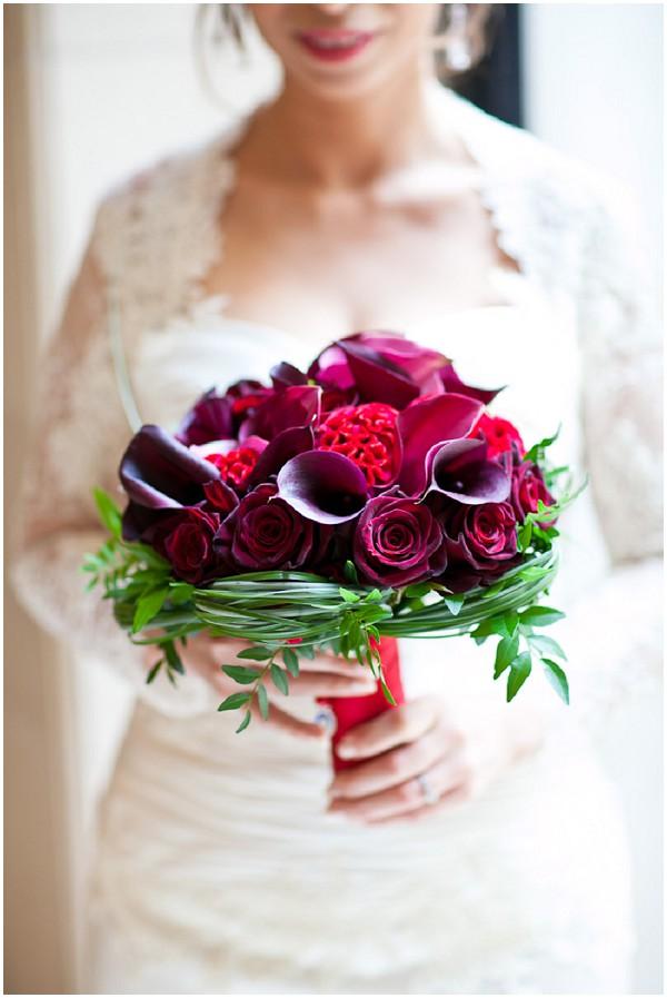 ed purple wedding flowers