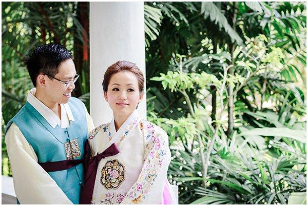 traditional korean bridal attire