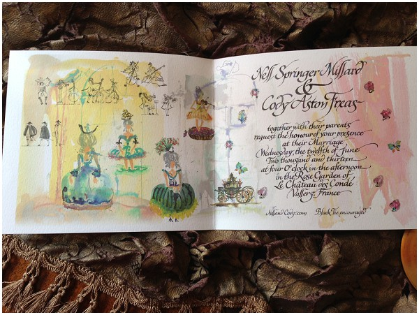 Wedding invitation full inside view