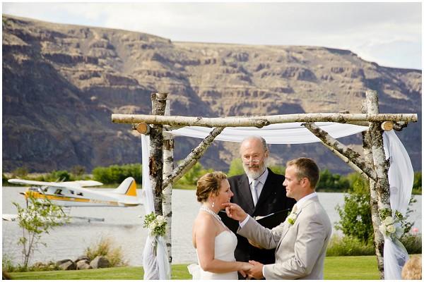 birch wedding alter