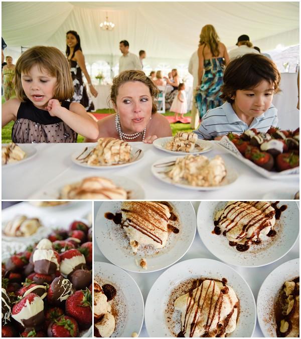 choosing wedding food