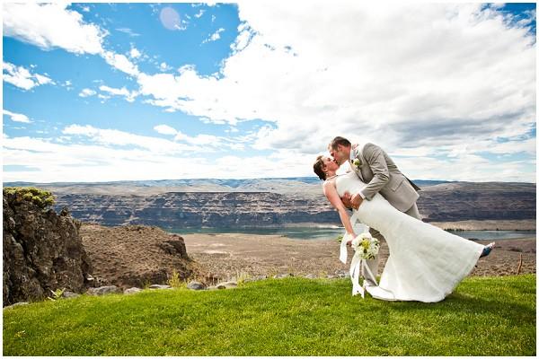 dramatic wedding setting