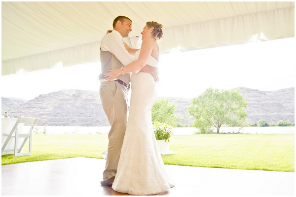 first dance tent with open sided tent