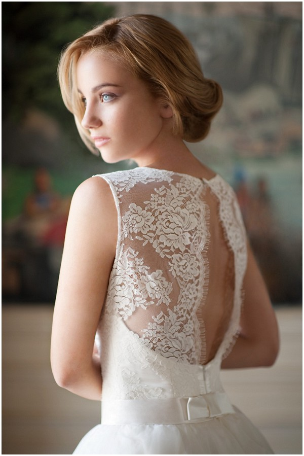 lack back bridalwear