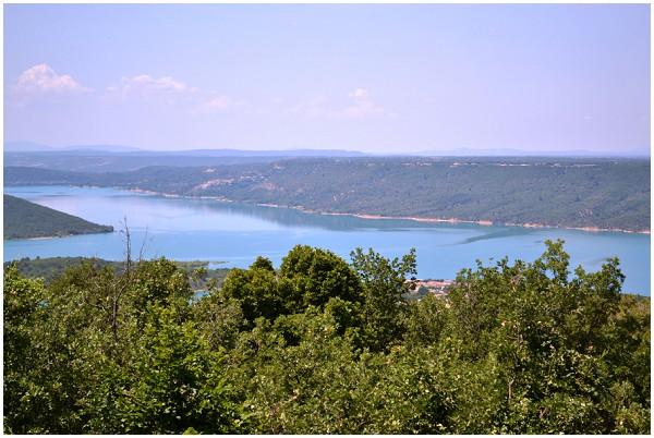 View of lac de Sainte Croix