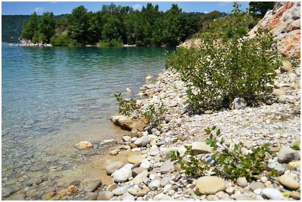 stone and pebble shoreline