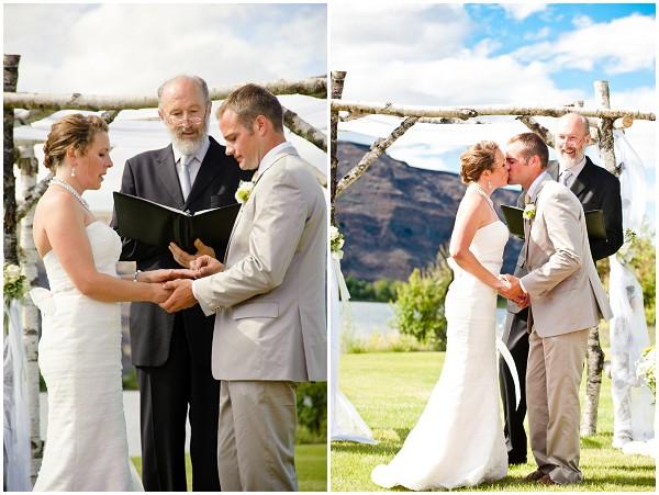 lake outdoor wedding