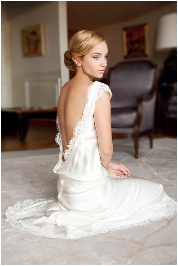 low back bridal gown