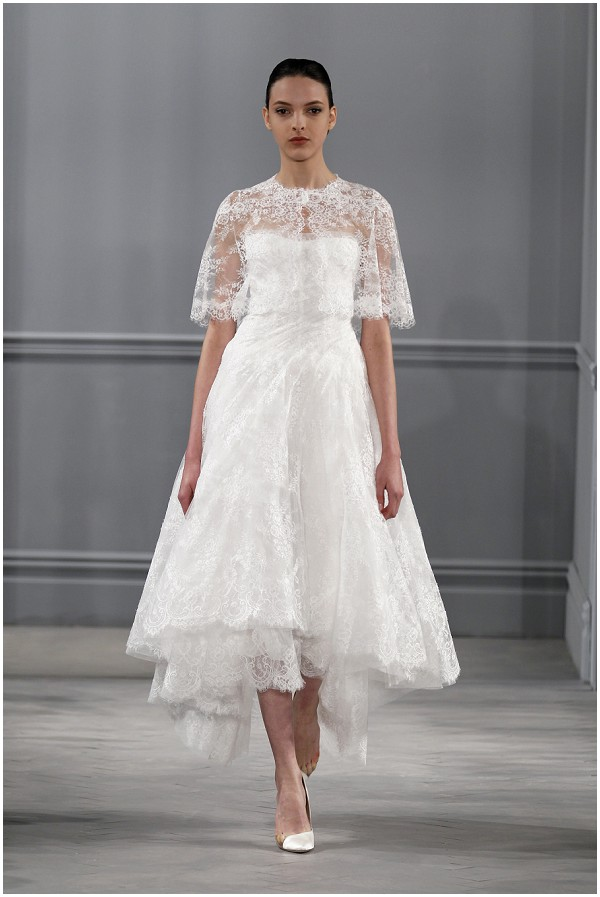 mid calf lace wedding dress on French Wedding Style Blog