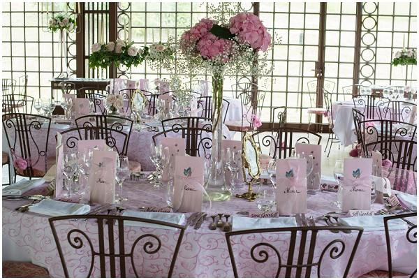 dusky pink wedding reception