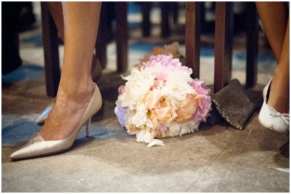 pink white bridal flowers