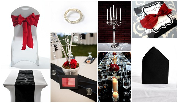 red black tablesetting