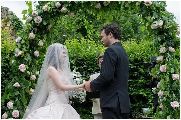 rose wedding arch