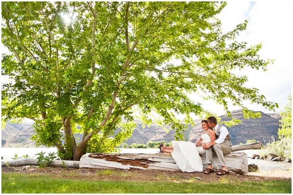 wedding beneath the trees