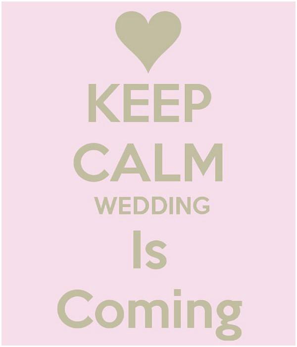 Keep calm the wedding is coming - wedding countdown