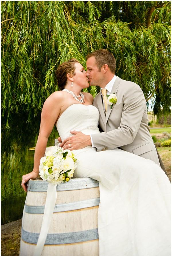 wooden barrel wedding