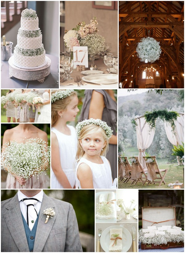 babys breath wedding ideas