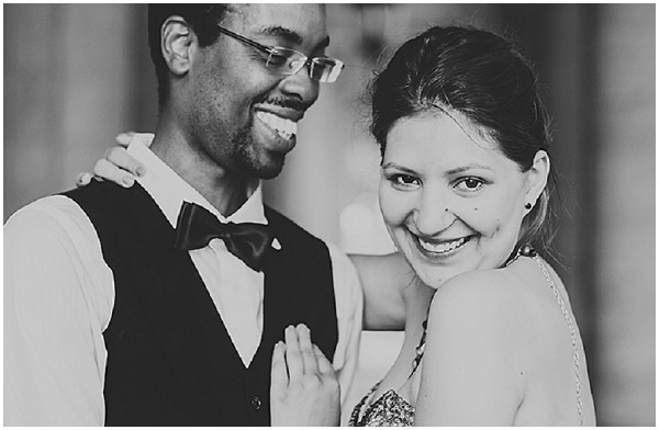 black white couple in love