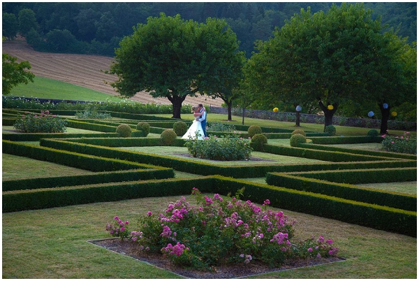 chateau garden wedding