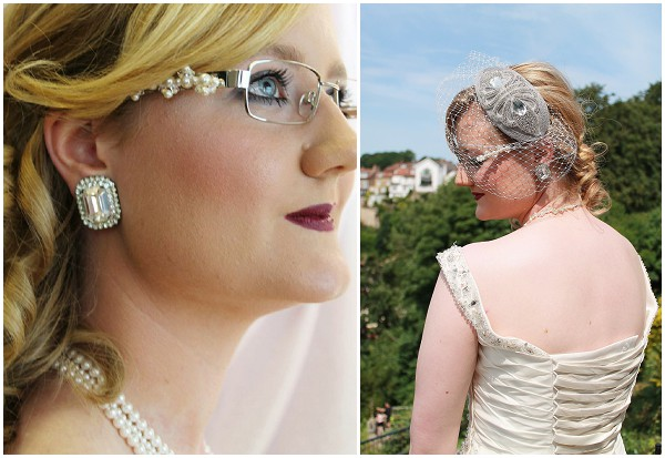 custom designed bride spectacles