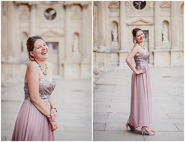 gold dress in paris