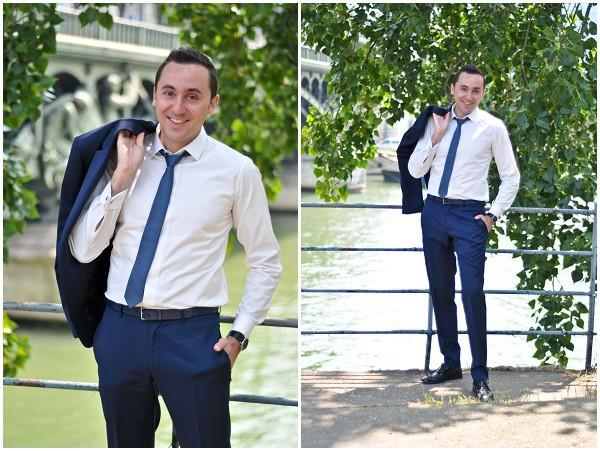 groom  navy suit