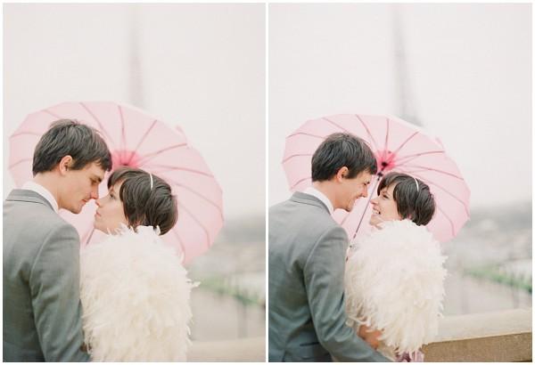 pink bridal umbrella