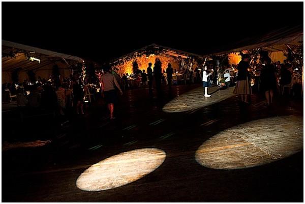 spotlight wedding dancefloor