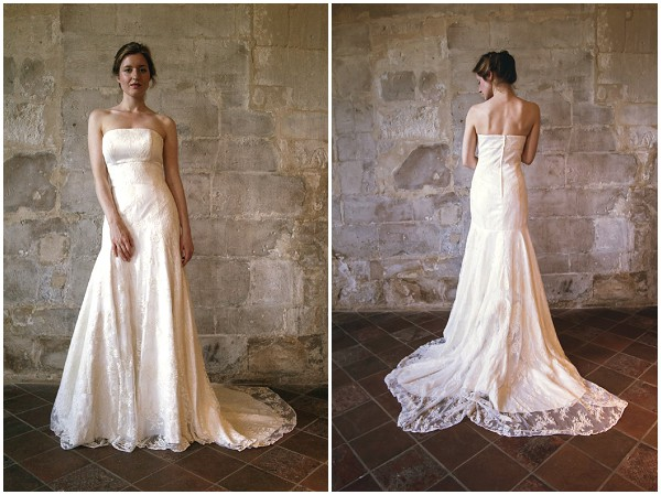 Designer Chic Vintage Bride Wedding Dress France