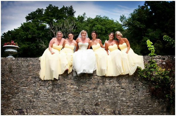 yellow bridesmaid dresses