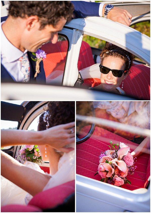 2cv wedding car
