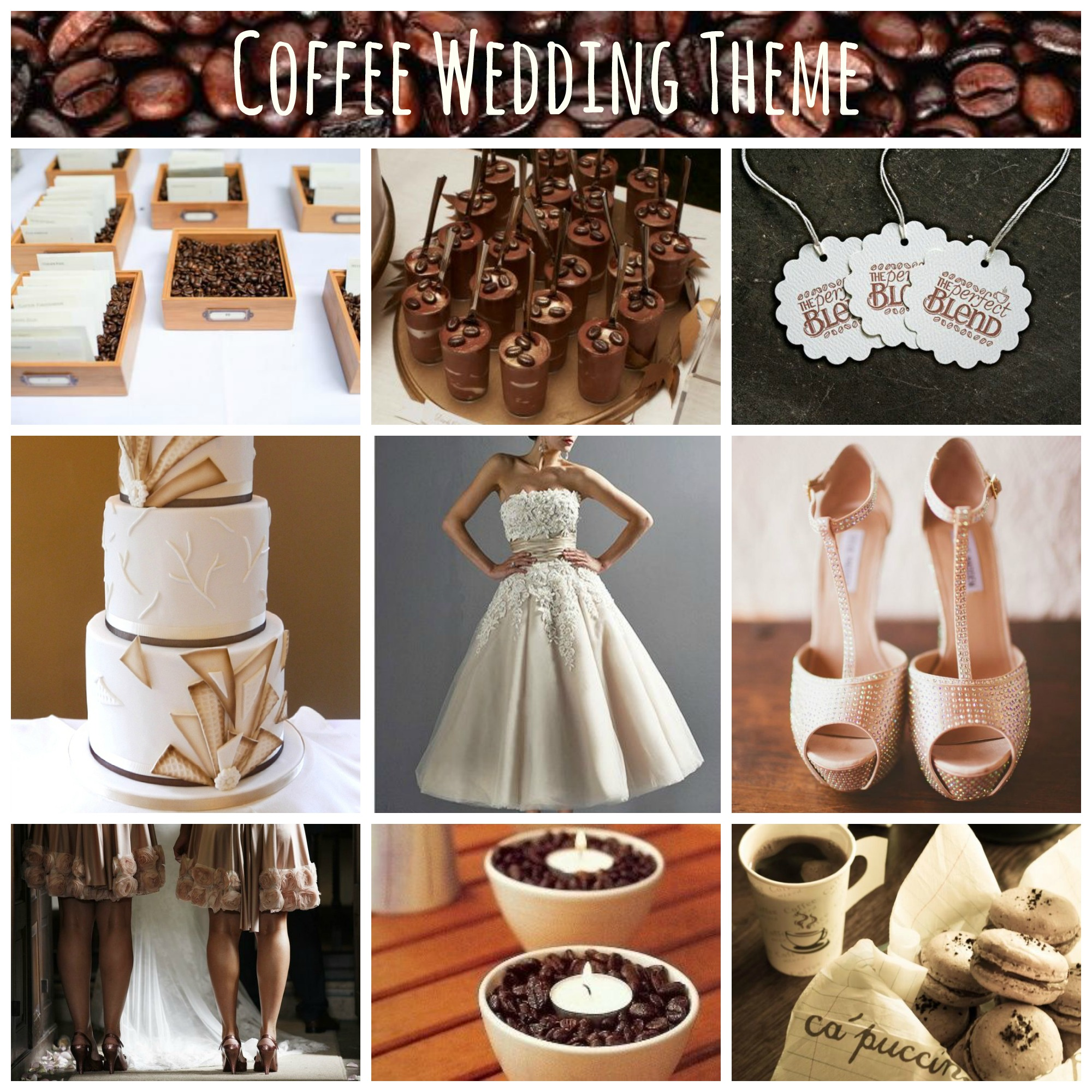 coffee wedding theme