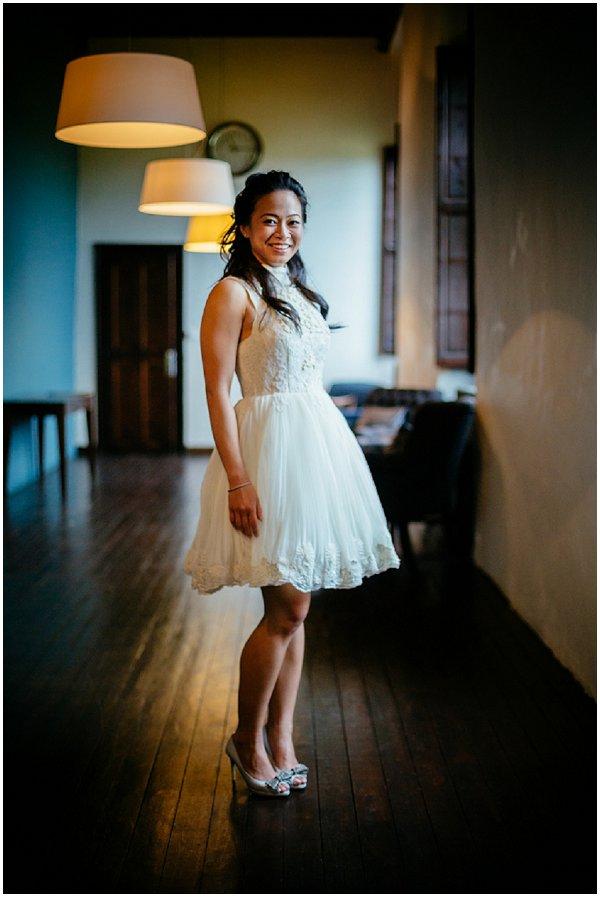 short and stylish wedding dress