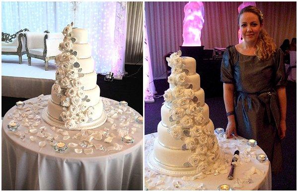 diamonds roses cake