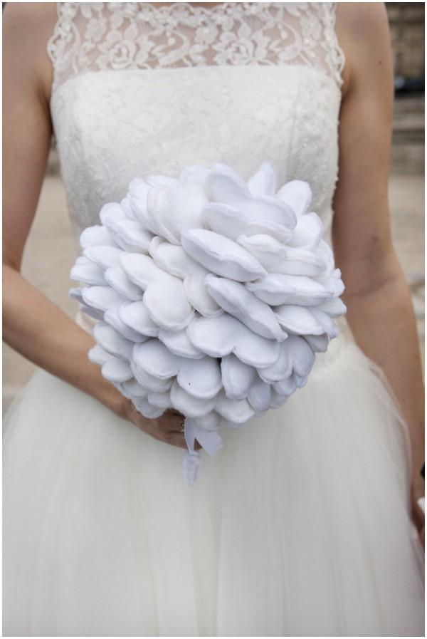 fabric heart bouquet