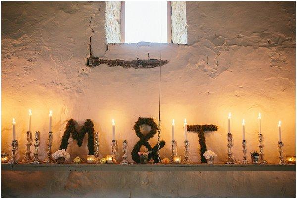 floral wedding monogram