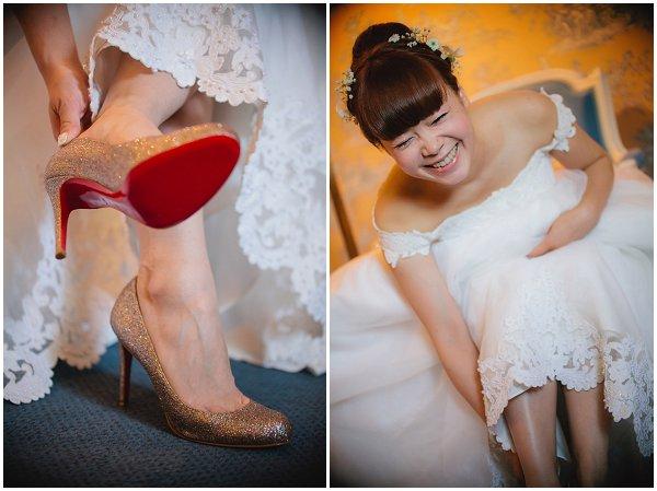 gold bridal louboutins