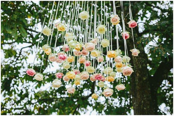 hanging wedding flowers