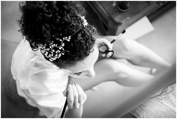 headpiece curly hair bride