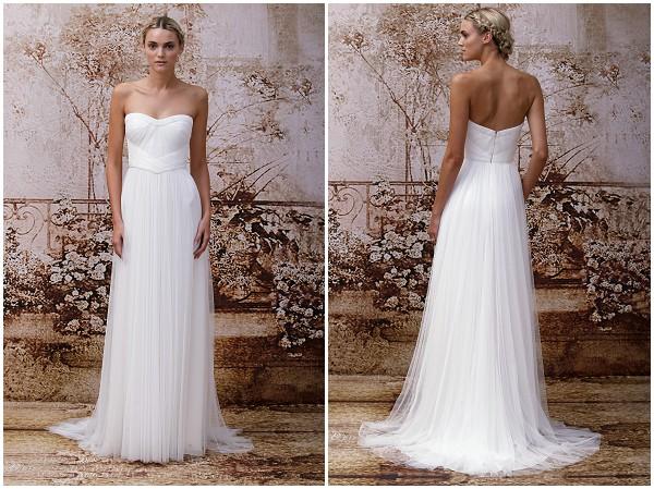 Monique Lhuillier Simple wedding dress