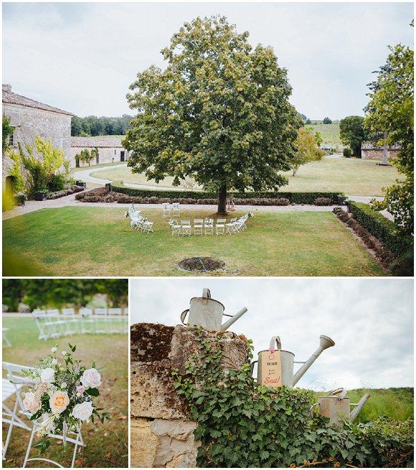 outdoor wedding ceremony dordogne