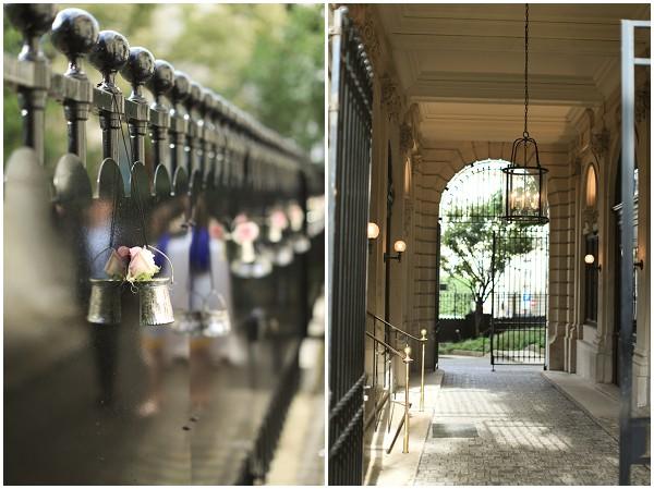 railing wedding decorations