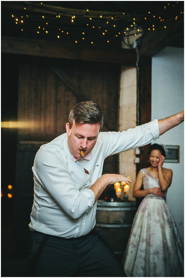 funky wedding dancing